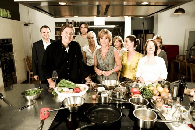 Koch-Zeitschrift lust auf Genuss thomas sixt kocht mit Prominenten: Ulrike Kriener