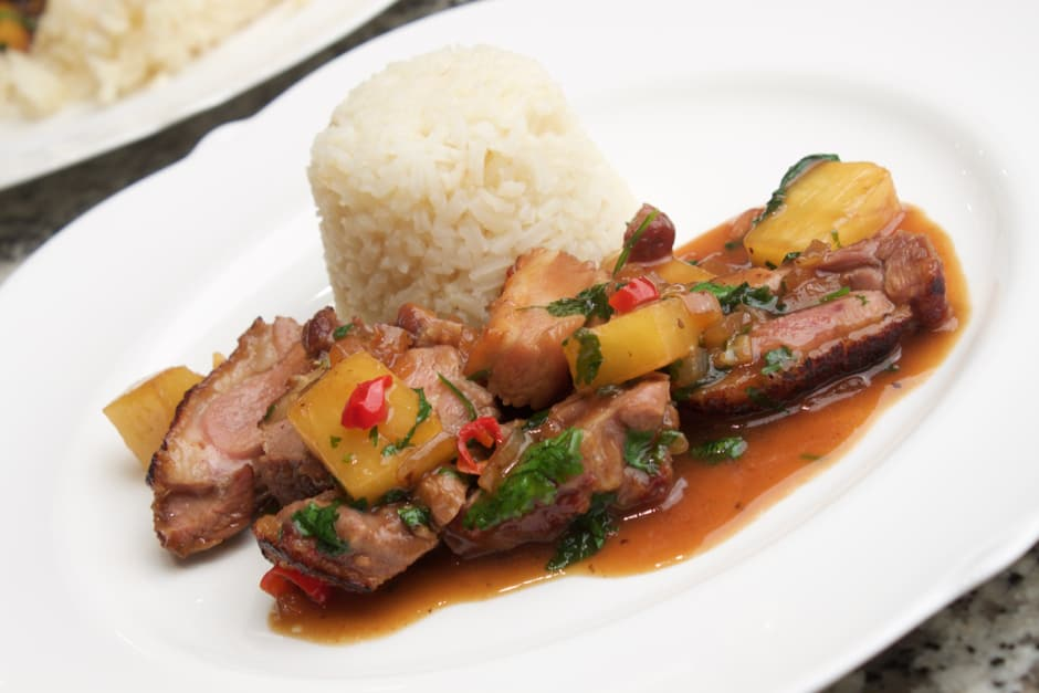 Duck with Pineapple, Coriander and Red Bull - this is a crazy, thrilling, tasty Dish!