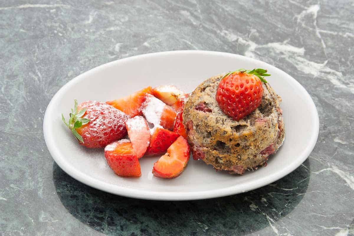 strawberry muffin as a great dessert