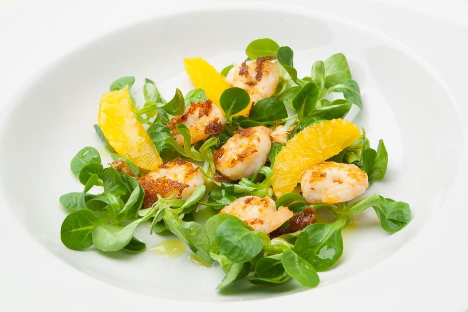 Salat mit Garnelen Rezept Bild