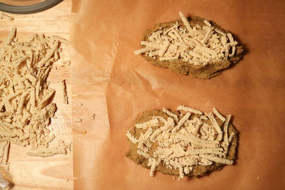 Prepare vegetarian goose breast
