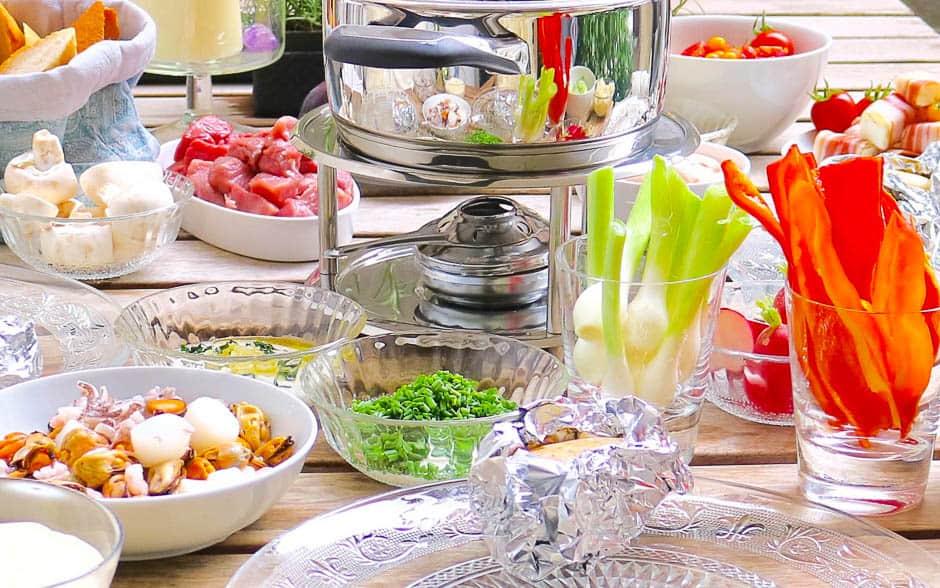 Fondue Tipps und Ideen für Silvester für Suppen-Fondue und Fett-Fondue