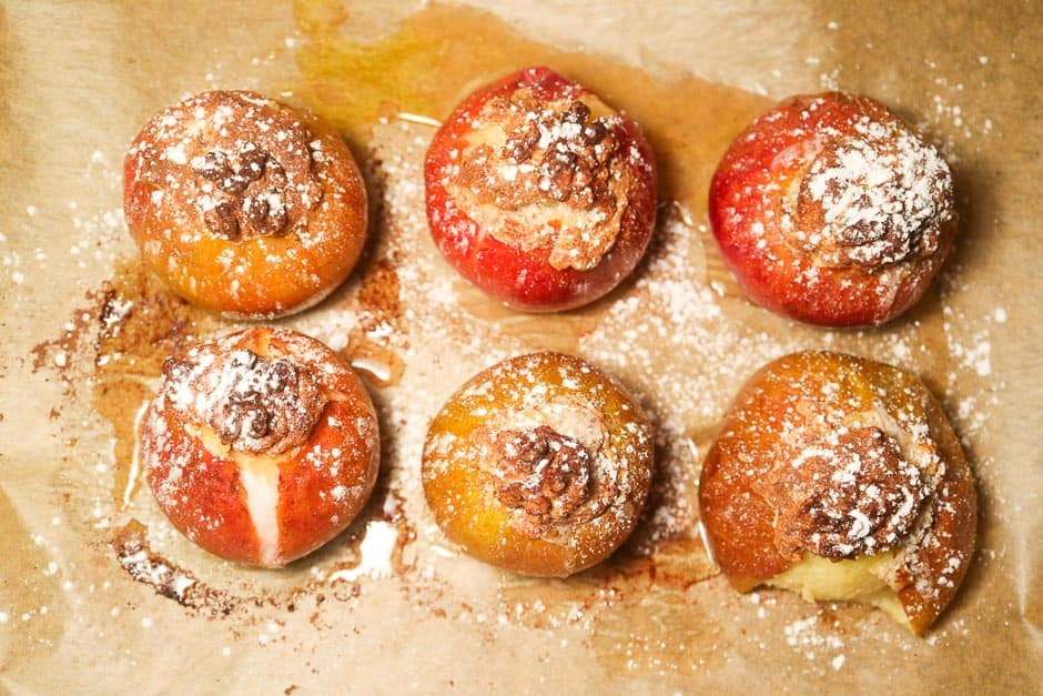 Baked apples ready cooked.