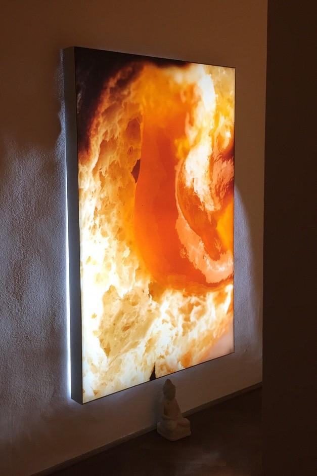 Donut Krapfen Lichtinstallation Kunstwerk Food Art Eat Art