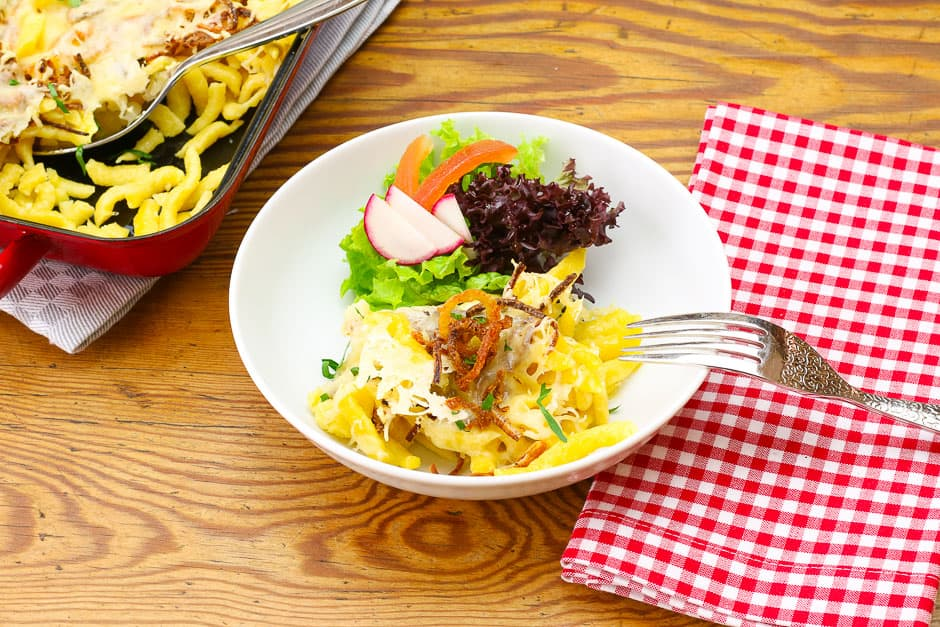 Cheese spaetzle recipe by professional chef Thomas Sixt.