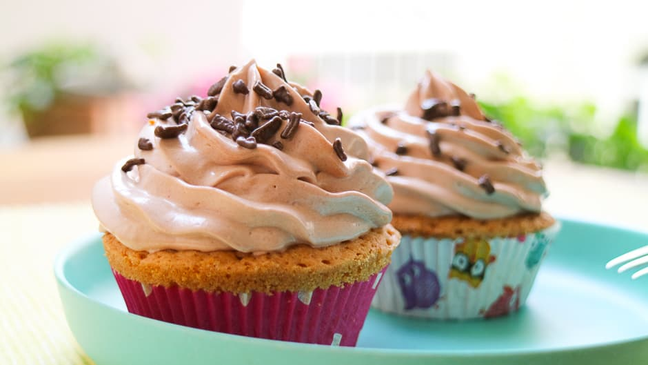 Nutella cupcakes easy made