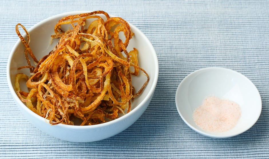Homemade fried onions.