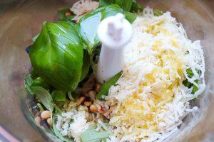 Pesto Zutaten im Mixbecher