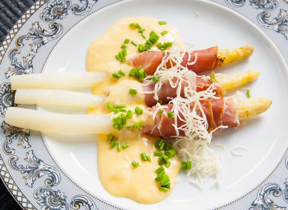 Kochrezept Bild Spargel mit Schinken