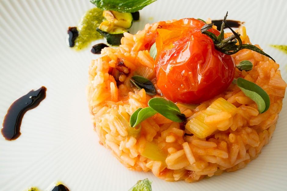 Nahaunahme Tomaten-Reis.