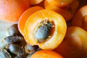 Aprikosen halbieren