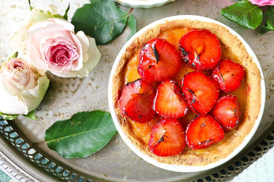 Strawberry tart as strawberry cake