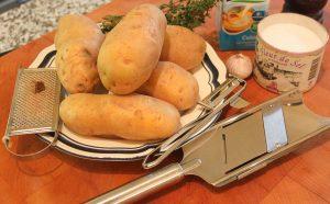 Zutaten für Kartoffelgratin
