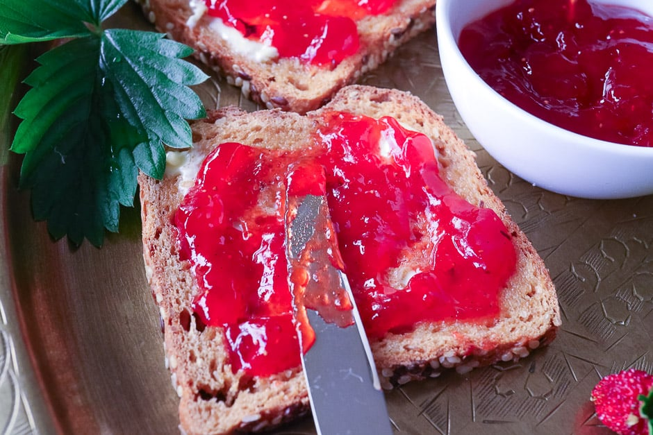 Strawberry Jam Bread
