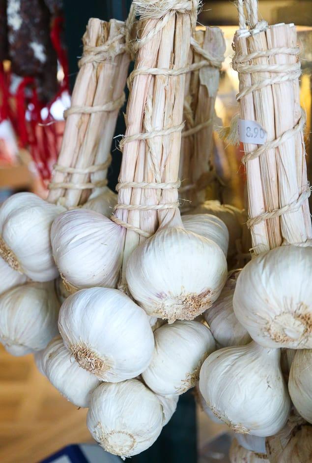 Garlic fresh in a bundle