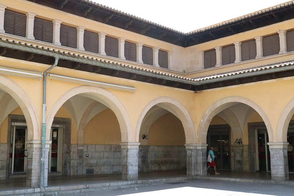 Market hall in Palma de Mallorca from the outside