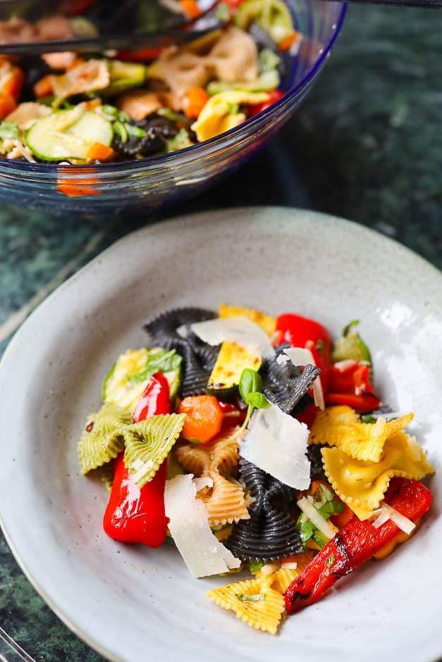 colourful simple noodle salad