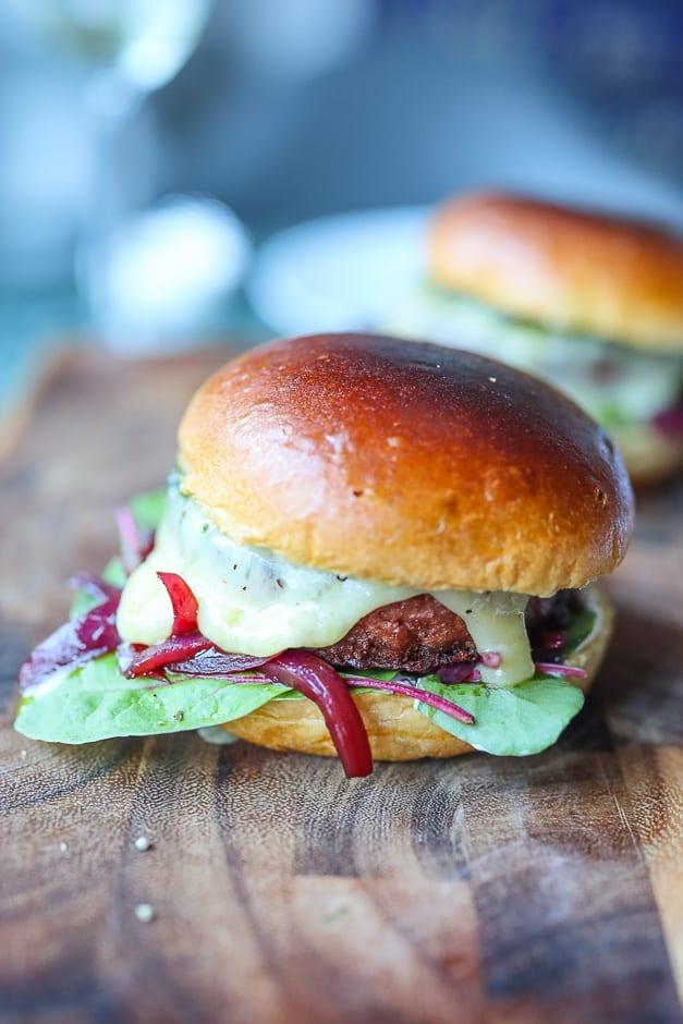 vegetarian burger portrait format