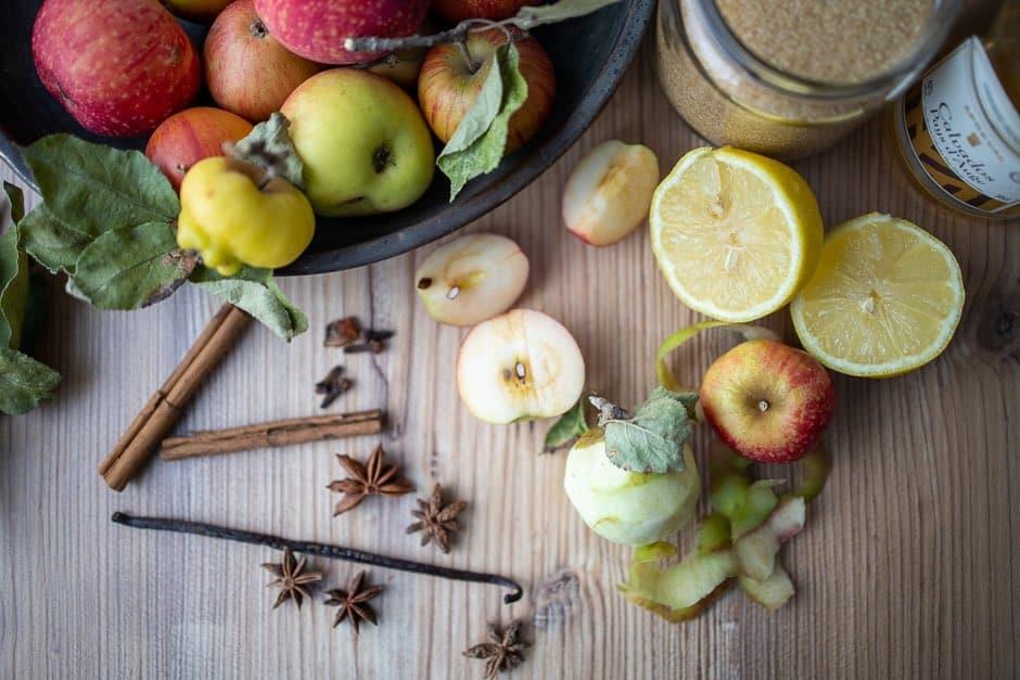 Zutaten Apfelkompott