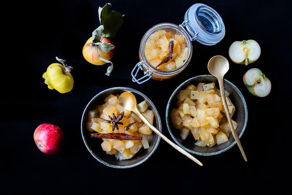 Apfel als feines Dessert