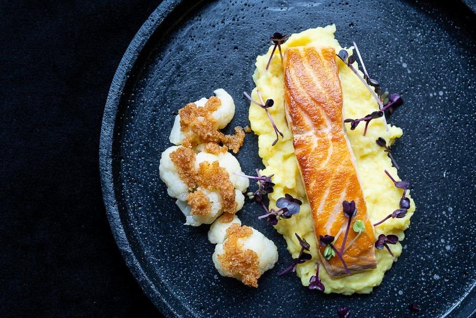 Lachs auf Kartoffelpüree Rezeptbild
