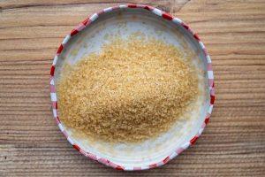 Zucker nahaufnahme brauner Zucker