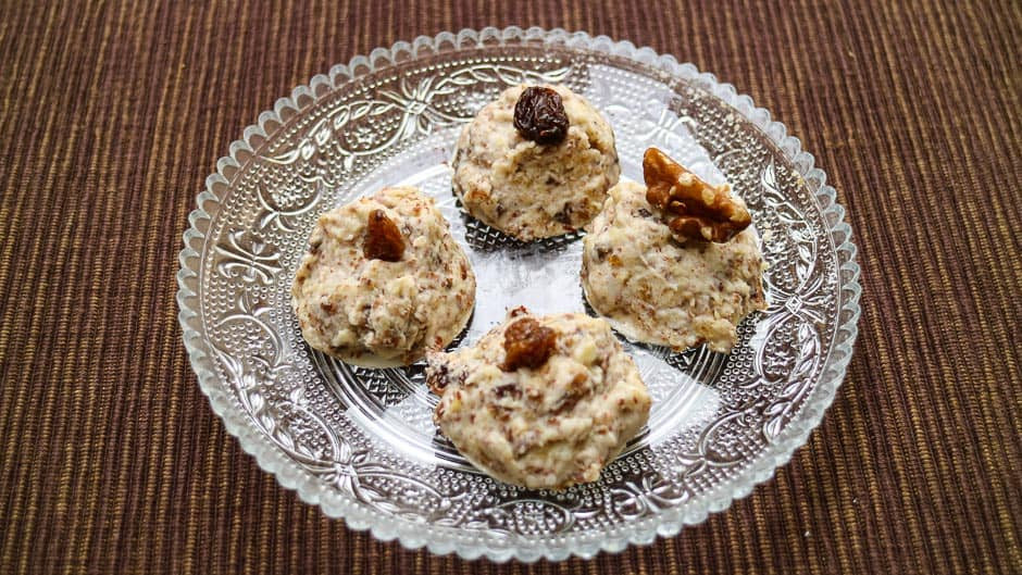 Coconut Macaroons with Nuts and Fruits