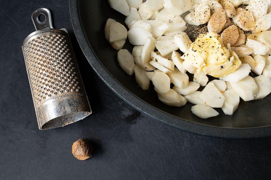 Schwrzwurzelgemüse mit Butter