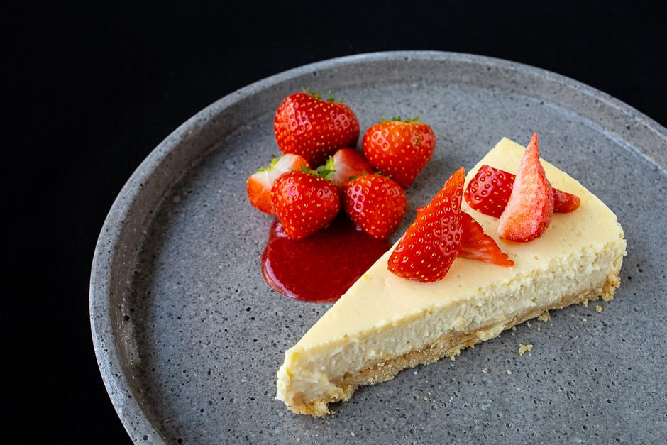 NY Cheesecake mit Erdbeeren