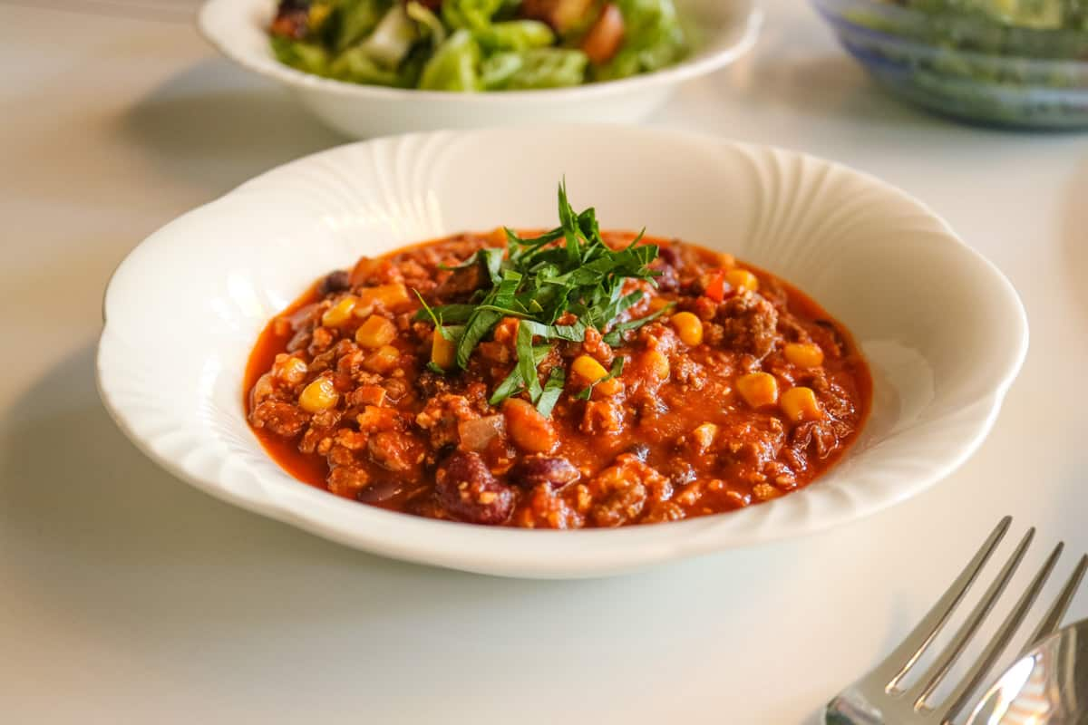 Chili sin Carne Recipe, delicious hot Cooking without Meat